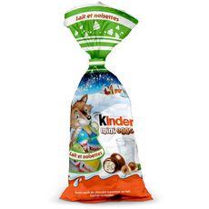 KINDER Kinder Mini Eggs petits œufs de chocolat au lait fourrés noisettes 182g 182g