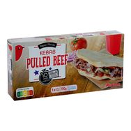 Auchan kebab bread pulled beef x1 -190g