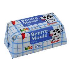 Auchan beurre moulé doux 250g