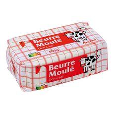 Auchan beurre moulé demi-sel 500g
