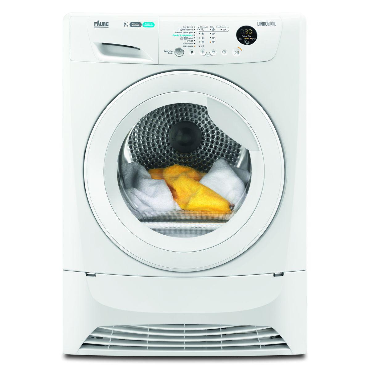 Sèche-linge Hublot FDH82200PS, 8 Kg, Condensation, Pompe à chaleur