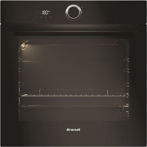 BRANDT Four Encastrable BXP5132B, 68 L, Convection naturelle, Nettoyage pyrolyse