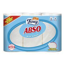FOXY Essuie-tout blanc maxi rouleaux = 9 standards 6 rouleaux