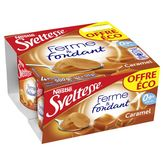 Nestlé Sveltesse ferme et fondant saveur caramel 4x125g prix choc