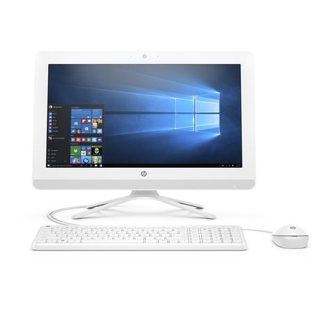 HP Ordinateur de bureau All in One PC 20-c402nf - APU AMD E2-9000 1.8 GHz - 500 Go - 19.5 pouces - Blanc