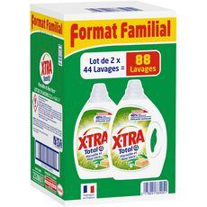 X-TRA Xtra lessive diluée Marseille 2x 2,2l format familial