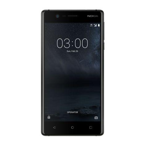 NOKIA Pack Smartphone - Nokia 3 - 16 Go - 5 pouces - Noir - 4G LTE & Protection Ecran Verre Trempé