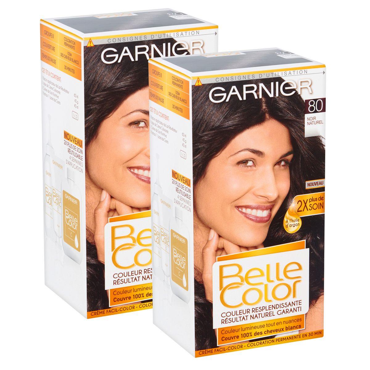 Garnier Belle Color coloration permanente 80 noir naturel x2
