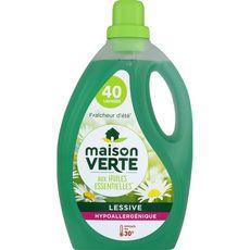 MAISON VERTE Lessive liquide écolabel fraîcheur d'été 40 lavages 2,4l