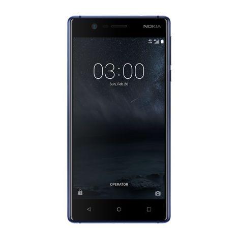 NOKIA Pack Smartphone - Nokia 3 - 16 Go - 5 pouces - Bleu - 4G LTE & Protection Ecran Verre Trempé