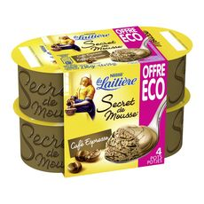 La Laitière secret de mousse café 4x59g offre économique