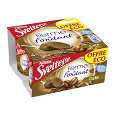 SVELTESSE Sveltesse Crème dessert ferme et fondante allégée au café 4x125g 4x125g