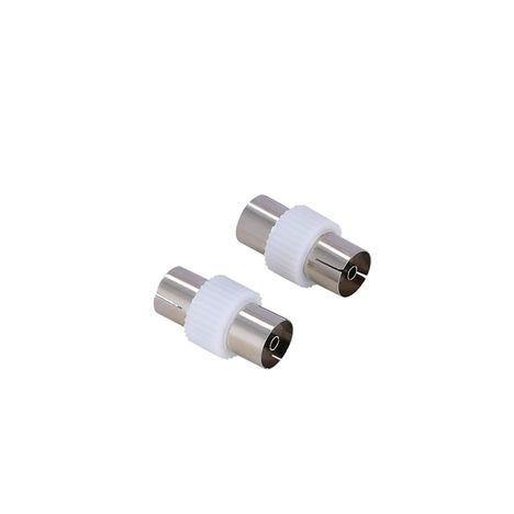 QILIVE Adaptateur antenne (lot de 2) - Femelle/femelle - 9.50 mm