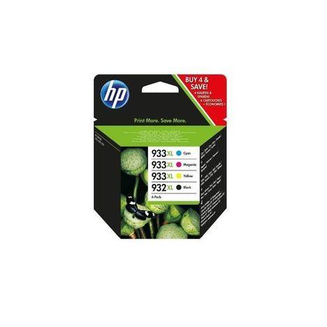 HP Pack de 4  Cartouches d'Encre HP 932XL/933XL Noire, Cyan, Magenta et Jaune grandes capacités Authentiques (C2P42AE)