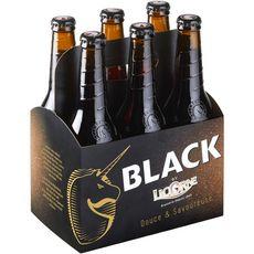 LICORNE Bière black 6% bouteilles 6x33cl