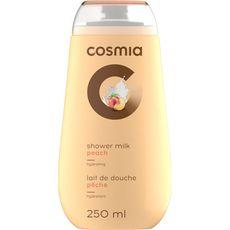 Cosmia gel douche lait pêche 250ml