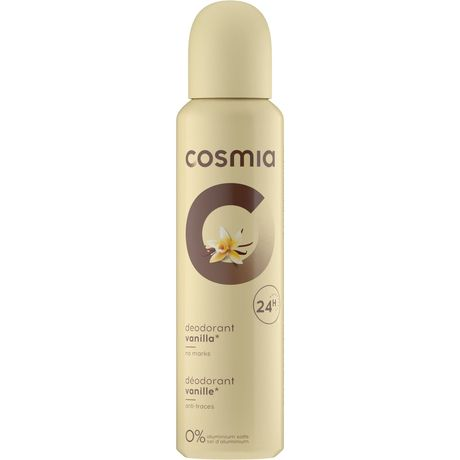 Cosmia déodorant femme vanille 150ml