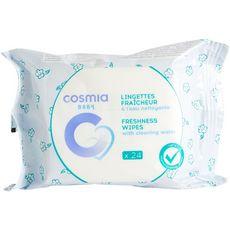 COSMIA BABY Lingette fraîcheur eau nettoyante 24 pièces
