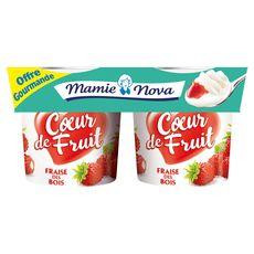 MAMIE NOVA Mamie Nova yaourt gourmand fraise 4x120g offre gourmande