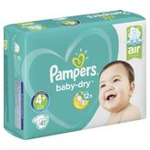 Pampers couches baby dry geant 10/15kg x41 taille 4+