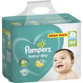 Pampers couches baby dry mega 10/15kg x80 taille4+