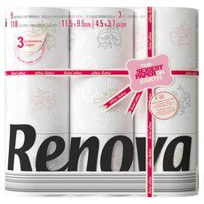 Renova design papier toilette rouleau x9