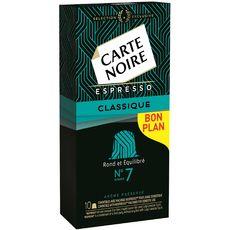 CARTE NOIRE Carte Noire espresso classique capsule n°7 x10 -53g