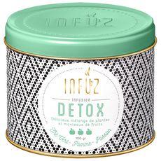 INFUZ Infusion detox thé vert, pomme, passion en vrac 100g