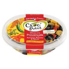 Croc'Frais olives provençale barquette 250g