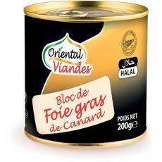 ORIENTAL VIANDES Bloc de foie gras de canard halal 200g