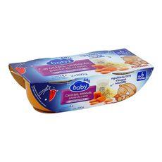 AUCHAN Auchan Baby carottes et semoule bols 2x200g dès 6 mois