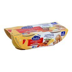 AUCHAN BABY Auchan baby Bol aux petits légumes et veau dès 6 mois 2x200g 2x200g