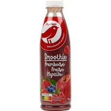 Auchan smoothie fruits rouges 75cl