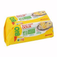 AUCHAN BIO Auchan Bio Beurre moulé doux 250g 250g