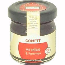 LES RECETTES DE JULIETTE Les Recettes de Juliette Confit d'airelles et pommes 40g 40g