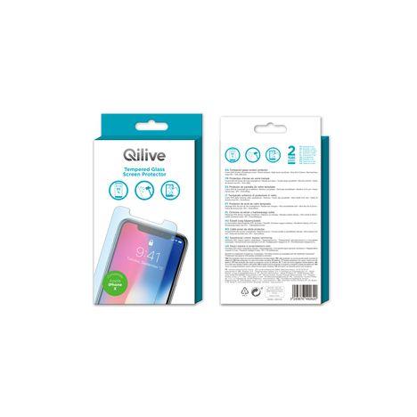 Protection D Ecran En Verre Trempe Pour Iphone X Qilive Pas Cher A