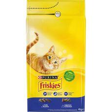FRISKIES Croquettes au colin et légumes pour chat 4kg