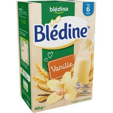 BLEDINA Blédine céréales en poudre à la vanille dès 6 mois 400g