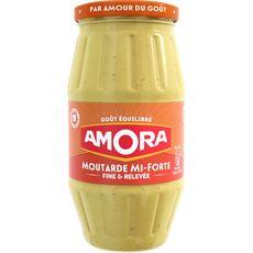 Amora moutarde mi-forte bocal 415g