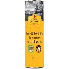 MAISTRES OCCITANS Bloc de foie gras de canard du Sud-Ouest origine certifiée 20/24 parts 1kg