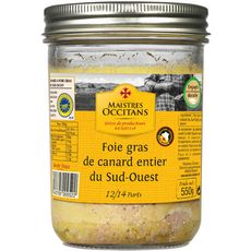 MAISTRES OCCITANS Foie gras entier de canard du Sud-Ouest 12/14 parts 550g
