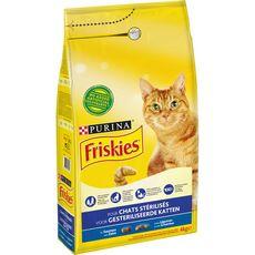 FRISKIES Croquettes au saumon et légumes pour chat stérilisé 4kg