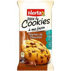 Herta pâte à cookie aux pépites de chocolat 350g