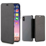 QILIVE Etui folio porte cartes pour Iphone X - Noir et transparent