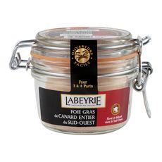 LABEYRIE Foie gras de canard entier du sud-ouest au vieil Armagnac 3-4 parts 135g