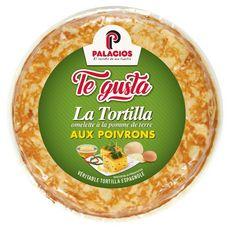 TE GUSTA La tortilla omelette à la pomme de terre aux poivrons 500g