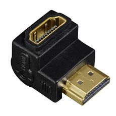QILIVE Adaptateur HDMI High Speed Ethernet - Mâle/femelle - Gold - Embout coudé