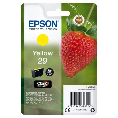 EPSON CARTOUCHE JAUNE EPSON XP-235/332 180 P FRAISE XP-432