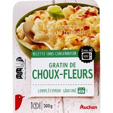 Auchan gratin de choux-fleurs 300g