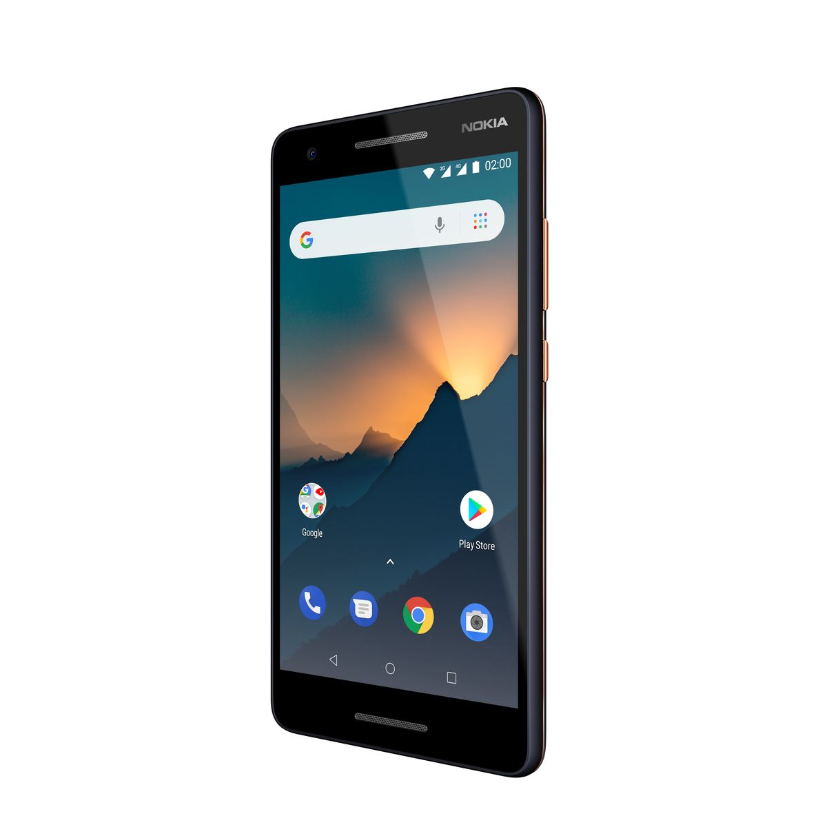 NOKIA Smartphone - 2.1 - 8 Go - Bleu cuivre - Double SIM - 4G